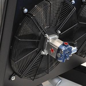 Fan Drive idraulico con controllo elettroproporzionale su uno scambiatore combinato